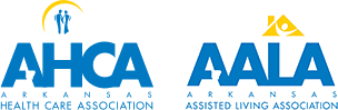 Arkansas Health Care Association and Arkansas Assisted Living Association logos